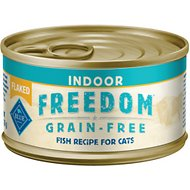 Blue Buffalo Freedom Indoor Flaked Fish Recipe Grain-Free Canned Cat Food, 3-oz, case of 24