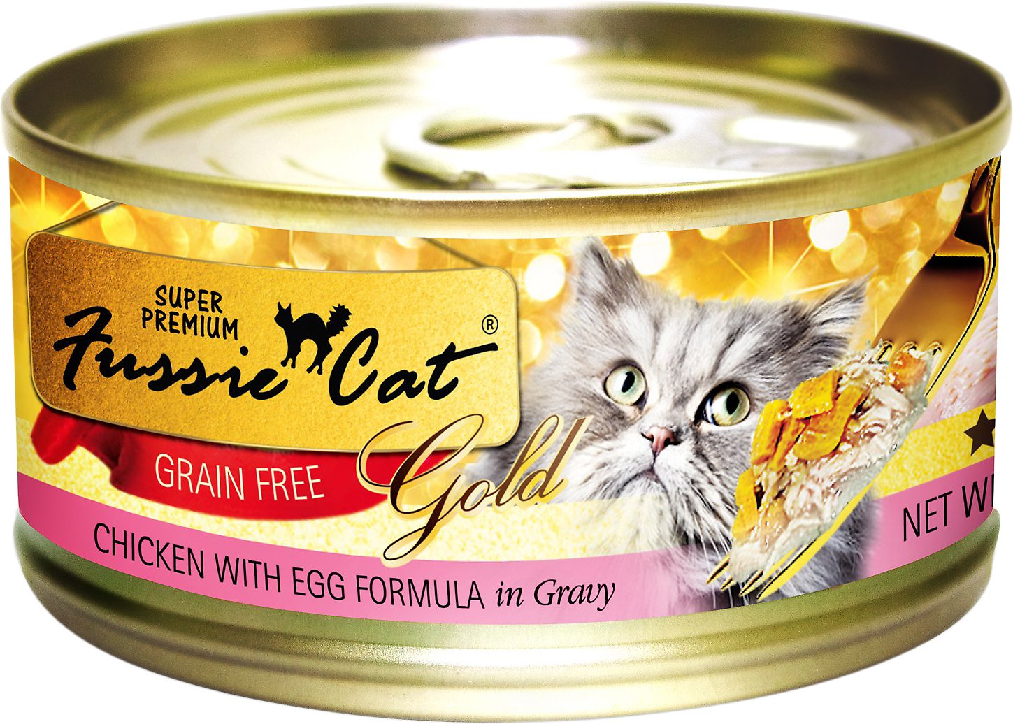 Fussie Cat Super Premium Chicken With Egg Formula In Gravy Grain Free Canned Cat Food 2 82 Oz Case Of 24 Chewy Com
