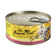Fussie Cat Super Premium Chicken with Egg Formula in Gravy Canned Cat Food, 2.82-oz, case of 24