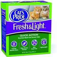 Cat's Pride Fresh & Light Quick Action Scented Multi-Cat Scoopable Cat Litter, 28-lb box