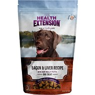 Health Extension Bully Puffs Bacon & Liver Grain-Free Dog Treats, 5-oz bag