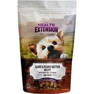 Health Extension Bully Puffs Lamb & Peanut Butter Grain-Free Dog Treats, 5-oz bag