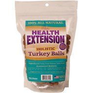 Health Extension Turkey Balls Grain-Free Dog Treats, 10-oz bag