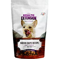 Health Extension Bacon Chips Dog Treats, 4-oz bag