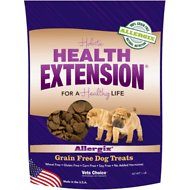 Health Extension Allergix Heart-Shaped Grain-Free Dog Treats, 1-lb bag