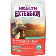 Health Extension Grain-Free Buffalo, Whitefish & Chickpea Formula Dry Dog Food, 23.5-lb bag