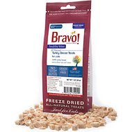 Bravo! Healthy Bites Turkey Breast Freeze-Dried Cat Treats, 1-oz bag