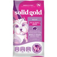 Solid Gold Wee Bit Bison & Brown Rice Recipe with Pearled Barley Small Breed Dry Dog Food, 4-lb bag