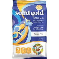 Solid Gold MMillennia Beef & Brown Rice Recipe with Peas Adult Dry Dog Food, 4-lb bag