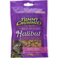 Yummy Chummies Halibut Recipe Grain-Free Cat Treats, 3-oz bag
