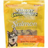 Yummy Chummies Salmon with Sweet Potato Recipe Biscuits Grain-Free Dog Treats, 14-oz bag