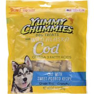Yummy Chummies Cod with Sweet Potato Recipe Biscuits Grain-Free Dog Treats, 14-oz bag
