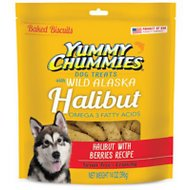 Yummy Chummies Halibut with Berries Recipe Biscuits Grain-Free Dog Treats, 14-oz bag