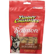 Yummy Chummies Salmon with Bacon Flavor Recipe Dog Treats, 4-oz bag