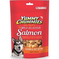 Yummy Chummies Salmon & Rice Recipe Dog Treats, 4-oz bag