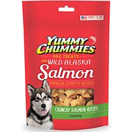 Yummy Chummies Crunchy Salmon Recipe Dog Treats, 4-oz bag