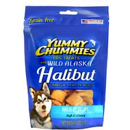 Yummy Chummies Halibut Recipe Grain-Free Dog Treats, 4-oz bag