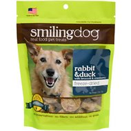 Herbsmith Smiling Dog Rabbit & Duck with Broccoli & Cranberry Freeze-Dried Dog Treats, 2.5-oz bag