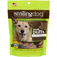 Herbsmith Smiling Dog Pork Puffs Freeze-Dried Dog Treats, 2.5-oz bag