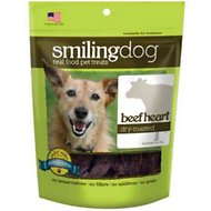 Herbsmith Smiling Dog Beef Heart Dry-Roasted Dog Treats, 3-oz bag