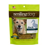 Herbsmith Smiling Dog Duck Dry-Roasted Dog Treats, 3-oz bag