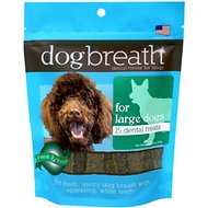 Herbsmith Dog Breath Dental Treats for Large Dogs, 15 count