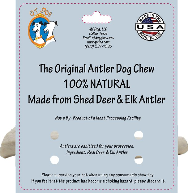 qt dog antlerz natural dog chews medium. Black Bedroom Furniture Sets. Home Design Ideas