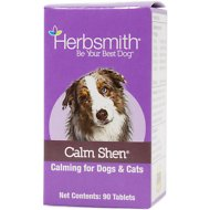 Herbsmith Herbal Blends Calm Shen Tablets Dog & Cat Supplement, 90 count