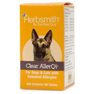 Herbsmith Herbal Blends Clear AllerQi Tablets Dog & Cat Supplement, 90 count