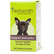Herbsmith Herbal Blends Support Immunity Tablets Dog & Cat Supplement, 90 count