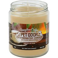 Pet Odor Exterminator Brazilian Coffee Deodorizing Candle, 13-oz jar