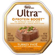 Nutro Ultra Protein Boost Turkey Pate Dog Food Trays, 3.5-oz, case of 24
