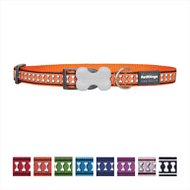 Red Dingo Reflective Dog Collar, Orange, 15mm