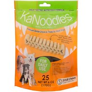 KaNoodles Small Premium Dental Chews Adult Dog Treats, 6-oz bag