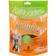 KaNoodles Large Premium Dental Chews Adult Dog Treats, 6-oz bag