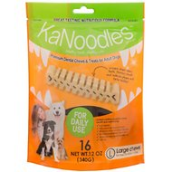 KaNoodles Large Premium Dental Chews Adult Dog Treats, 12-oz bag