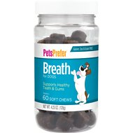 PetsPrefer Breath Soft Chews Dog Supplement, 60 count