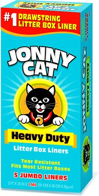 Jonny Cat Heavy Duty Jumbo Litter Box Liners 5 Count