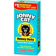 Jonny Cat Heavy Duty Jumbo Litter Box Liners, 5 count