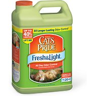 Cat's Pride Fresh & Light All Day Odor Control Scented Multi-Cat Scoopable Litter, 12-lb jug