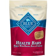 Blue Buffalo Health Bars Baked with Bacon, Egg & Cheese Dog Treats, 16-oz bag