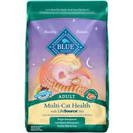Blue Buffalo Multi-Cat Health Chicken & Turkey Recipe Adult Dry Cat Food, 15-lb bag