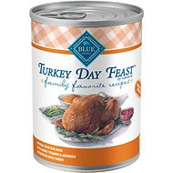 Blue Buffalo Family Favorite Grain-Free Recipes Turkey Day Feast Canned Dog Food, 12.5-oz, case of 12