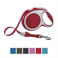Flexi Vario Retractable Tape Dog Leash, Red, Medium, 16 ft
