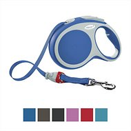 Flexi Vario Retractable Tape Dog Leash, Blue, Medium, 16 ft