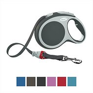 Flexi Vario Retractable Tape Dog Leash, Granite, Large, 26 ft