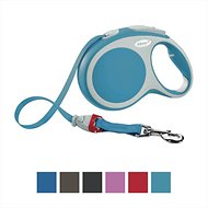 Flexi Vario Retractable Tape Dog Leash, Turquoise, Small, 16 ft