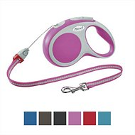 Flexi Vario Retractable Cord Dog Leash, Pink, Medium, 16 ft