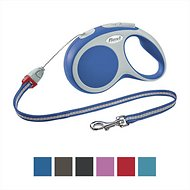 Flexi Vario Retractable Cord Dog Leash, Blue, Medium, 16 ft
