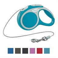 Flexi Vario Retractable Cord Dog Leash, Turquoise, X-Small, 10 ft